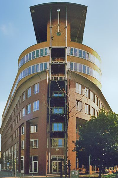 Building of the Immigration Authorities of the city of Hamburg on Amsickstrasse.